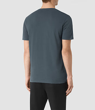 Uomo Brace Tonic Crew T-Shirt (LEAD BLUE) - product_image_alt_text_2