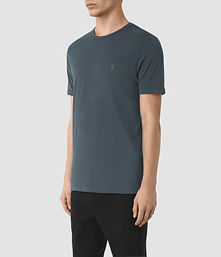 Uomo Brace Tonic Crew T-Shirt (LEAD BLUE) - product_image_alt_text_3