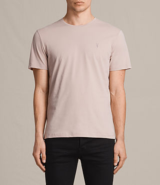 Mens Brace Tonic Crew T-Shirt (SABLE PINK) - product_image_alt_text_1