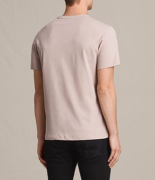 Mens Brace Tonic Crew T-Shirt (SABLE PINK) - product_image_alt_text_4