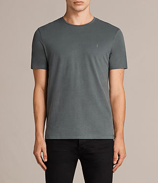 Mens Brace Tonic Crew T-Shirt (FLINT GREEN) - Image 1