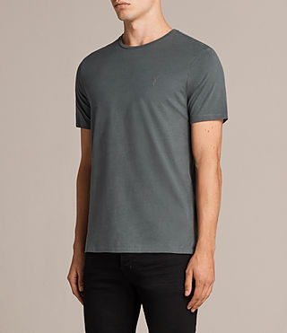 Mens Brace Tonic Crew T-Shirt (FLINT GREEN) - Image 3