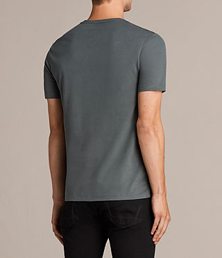 Mens Brace Tonic Crew T-Shirt (FLINT GREEN) - Image 4