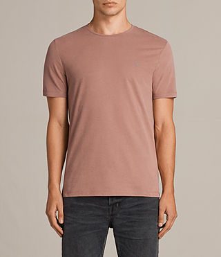 Hombre Brace Tonic Crew T-Shirt (TREACLE RED) - product_image_alt_text_1