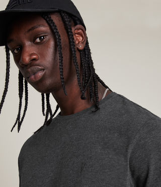 Mens Brace Tonic Crew T-Shirt (Charcoal Marl) - product_image_alt_text_2