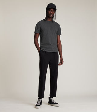 Mens Brace Tonic Crew T-Shirt (Charcoal Marl) - product_image_alt_text_3