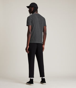 Mens Brace Tonic Crew T-Shirt (Charcoal Marl) - product_image_alt_text_4