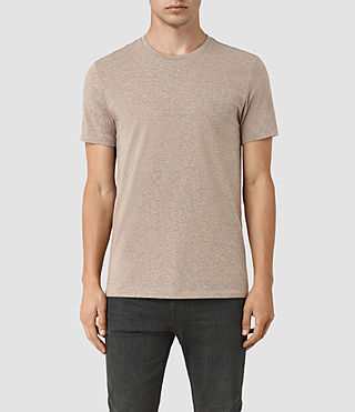 Men's Tonic Panel Crew T-Shirt (Taupe Marl)