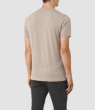 Hommes Tonic Panel Crew T-Shirt (Taupe Marl) - product_image_alt_text_3