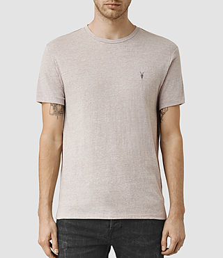 Mens Tonic Panel Crew T-Shirt (PUTTY GREY MARL)