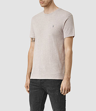 Mens Tonic Panel Crew T-Shirt (PUTTY GREY MARL) - product_image_alt_text_3