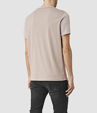 Mens Tonic Panel Crew T-Shirt (PUTTY GREY MARL) - product_image_alt_text_4