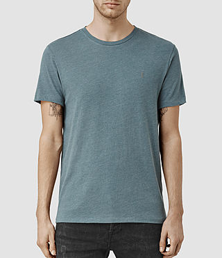 Mens Tonic Panel Crew T-Shirt (DeepOcean Blue Mrl) - product_image_alt_text_1
