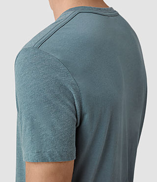 Hommes Tonic Panel Crew T-Shirt (DeepOcean Blue Mrl) - product_image_alt_text_2