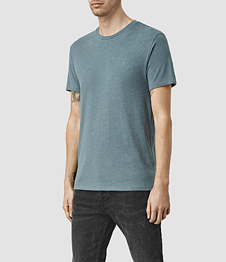 Hommes Tonic Panel Crew T-Shirt (DeepOcean Blue Mrl) - product_image_alt_text_3