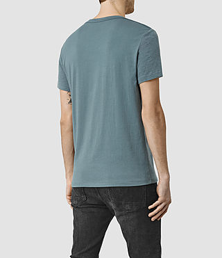 Hommes Tonic Panel Crew T-Shirt (DeepOcean Blue Mrl) - product_image_alt_text_4