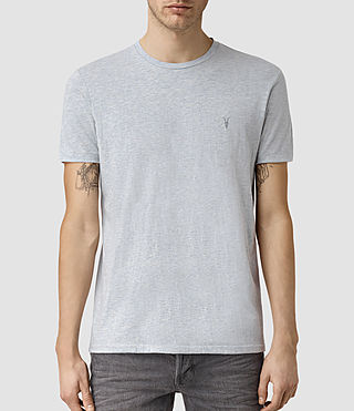 Mens Tonic Panel Crew T-Shirt (MIRAGE BLUE MARL)
