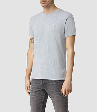Mens Tonic Panel Crew T-Shirt (MIRAGE BLUE MARL) - product_image_alt_text_3