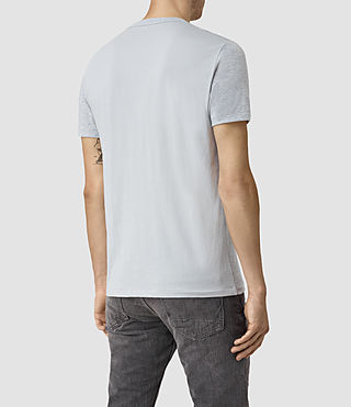 Mens Tonic Panel Crew T-Shirt (MIRAGE BLUE MARL) - product_image_alt_text_4