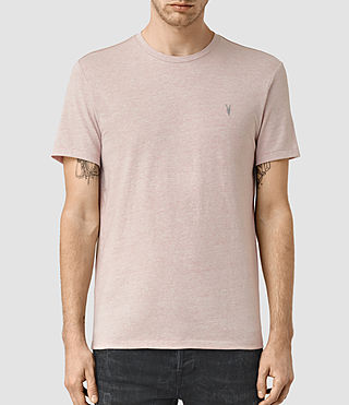 Men's Tonic Panel Crew T-Shirt (Sphinx Pink Marl) -