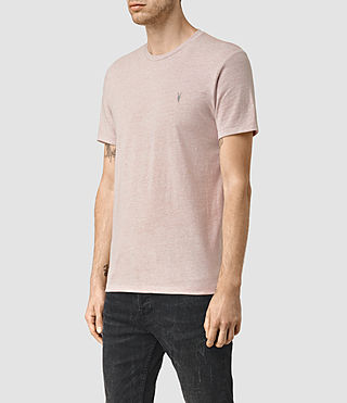 Men's Tonic Panel Crew T-Shirt (Sphinx Pink Marl) - product_image_alt_text_3