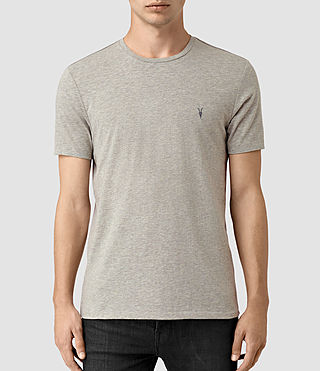 Hombres Tonic Panel Crew T-Shirt (Smoke Grey)