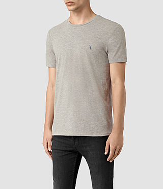 Men's Tonic Panel Crew T-Shirt (Smoke Grey) - product_image_alt_text_3