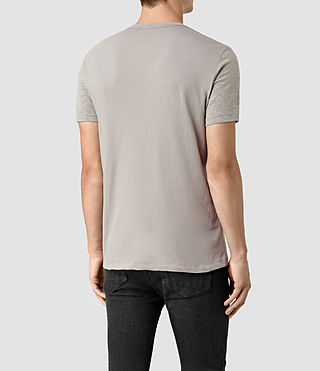 Men's Tonic Panel Crew T-Shirt (Smoke Grey) - product_image_alt_text_4