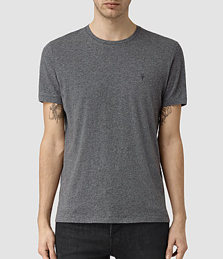 Mens Tonic Panel Crew T-Shirt (Charcoal Marl) - product_image_alt_text_1