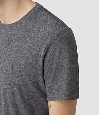 Mens Tonic Panel Crew T-Shirt (Charcoal Marl) - product_image_alt_text_2
