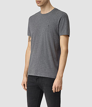 Men's Tonic Panel Crew T-Shirt (Charcoal Marl) - product_image_alt_text_3
