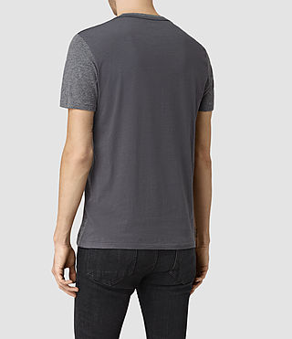 Men's Tonic Panel Crew T-Shirt (Charcoal Marl) - product_image_alt_text_4