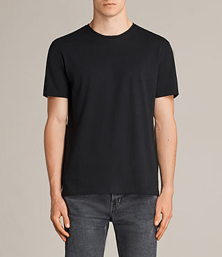 Men's Migure Crew T-Shirt (Jet Black) - product_image_alt_text_1