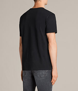 Men's Migure Crew T-Shirt (Jet Black) - product_image_alt_text_3