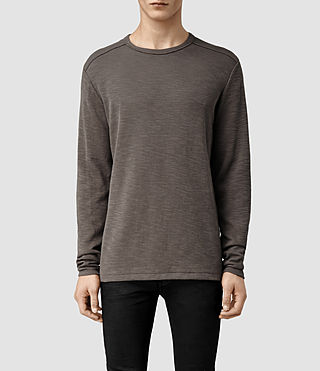 Mens State Long Sleeved Crew T-shirt (Battalion)