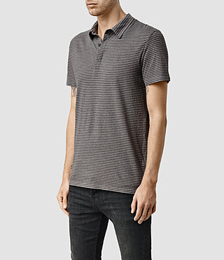 Hombre Dual Stripe Polo (PUTTY/ CHARCOAL) - product_image_alt_text_2
