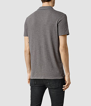 Mens Dual Stripe Polo (PUTTY/ CHARCOAL) - product_image_alt_text_3