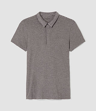 Mens Dual Stripe Polo (PUTTY/ CHARCOAL) - product_image_alt_text_4