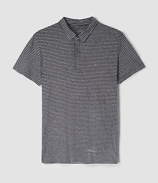 Mens Dual Stripe Polo (JET BLK/LIGHT GRY) - product_image_alt_text_4