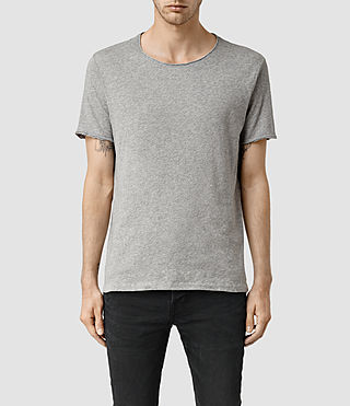 Uomo Warn Crew T-Shirt (Grey Marl)