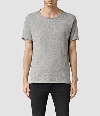 Uomo Warn Crew T-Shirt (Grey Marl) -