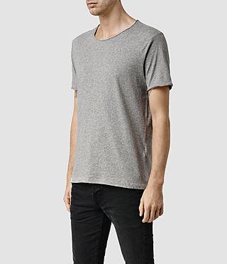 Uomo Warn Crew T-Shirt (Grey Marl) - product_image_alt_text_2