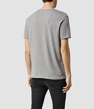 Uomo Warn Crew T-Shirt (Grey Marl) - product_image_alt_text_3