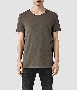 Mens Warn Crew T-Shirt (Olive Green)