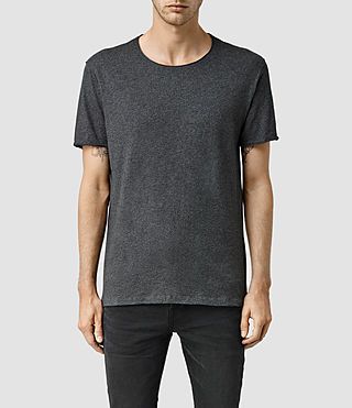 Mens Warn Crew T-Shirt (Charcoal Marl) - product_image_alt_text_1
