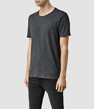 Uomo Warn Crew T-Shirt (Charcoal Marl) - product_image_alt_text_2