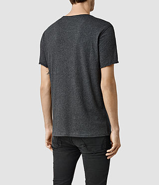 Uomo Warn Crew T-Shirt (Charcoal Marl) - product_image_alt_text_3