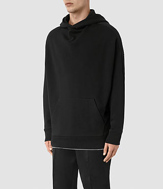 Mens Wiltson Pullover Hoody (Jet Black) - product_image_alt_text_3