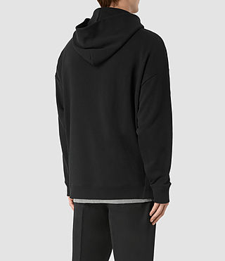 Men's Wiltson Pullover Hoody (Jet Black) - product_image_alt_text_4