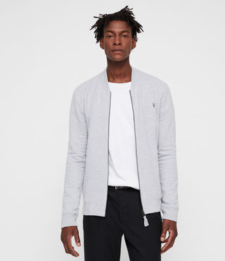 Men's Raven Sweat Bomber (Grey Marl) - Image 1